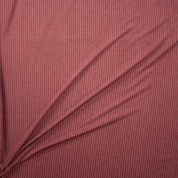 Wine on Mauve Horizontal Stripe Brushed Soft Waffle Knit Fabric By The Yard - Wide shot