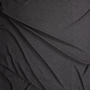 Charcoal Brushed Soft Waffle Knit Fabric By The Yard - Wide shot