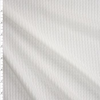 Warm White Brushed Soft Waffle Knit Fabric By The Yard