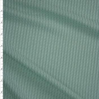 Light Seafoam Soft Waffle Knit Fabric By The Yard