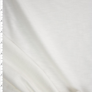 White Stretch Cotton French Terry Fabric By The Yard