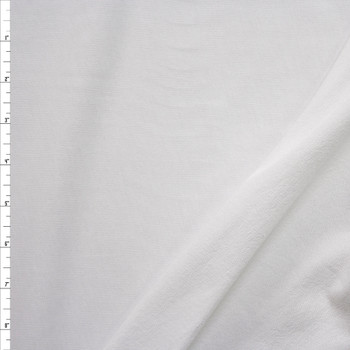 White Lightweight Cotton French Terry Fabric By The Yard