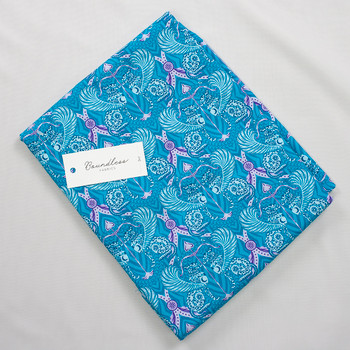 Boundless Quilter's Cotton Eros Aqua (3y Bargain Cut) Fabric By The Yard