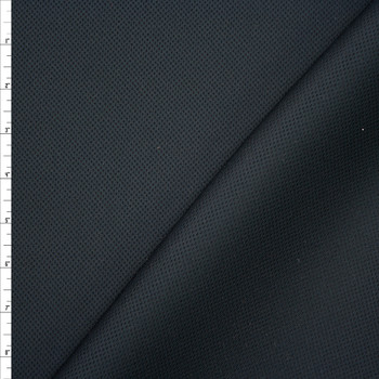 Black Perforated Texture Double Scuba Knit Fabric By The Yard