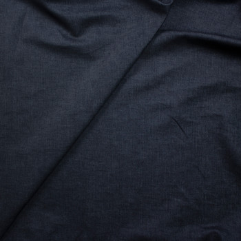 Dark Indigo Stretch Midweight Denim from 'True Religion' Fabric By The Yard - Wide shot