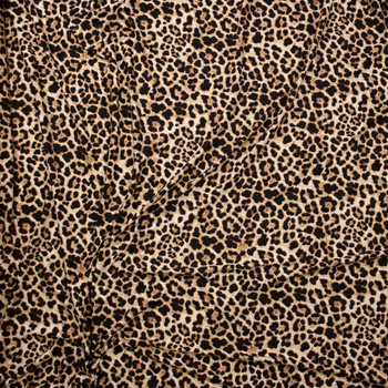 Leopard Double Bushed Poly/Spandex Fabric By The Yard - Wide shot
