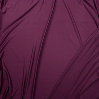 Plum Bamboo French Terry Fabric By The Yard - Wide shot