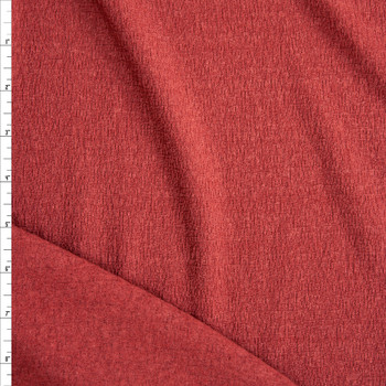 Brick Red Gauzy Textured Brushed Sweater Knit Fabric By The Yard