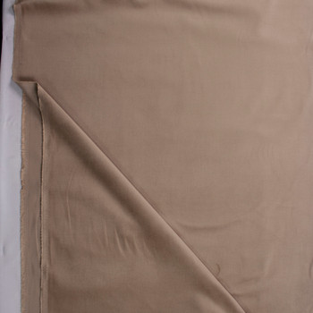Khaki Stretch Corded Cotton Velvet Fabric By The Yard - Wide shot