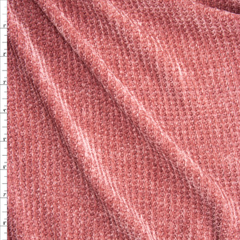 Dusty Rose Chenille Sweater Knit Fabric By The Yard