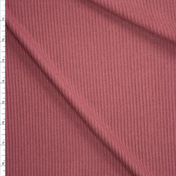 Dusty Brick Stretch Rib Knit Fabric By The Yard