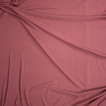 Dusty Brick Stretch Rib Knit Fabric By The Yard - Wide shot