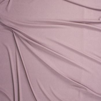 Dusty Lilac Stretch Rib Knit Fabric By The Yard - Wide shot