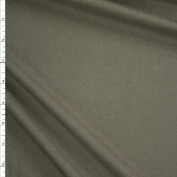 Dark Moss Midweight Stretch Micro Rib Fabric By The Yard