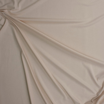 Ivory Midweight Stretch Micro Rib Fabric By The Yard - Wide shot
