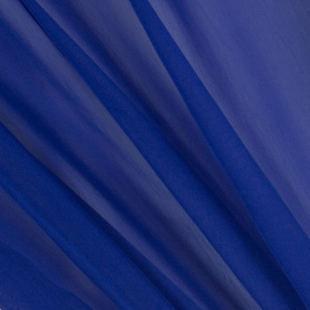 Royal Blue Two-Tone Chiffon