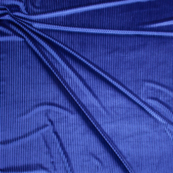 Royal Corded Stretch Velvet Fabric By The Yard - Wide shot