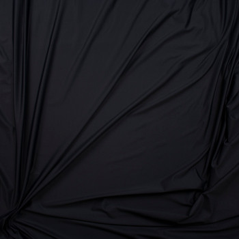 Black Midweight Shiny Nylon/Spandex Fabric By The Yard - Wide shot