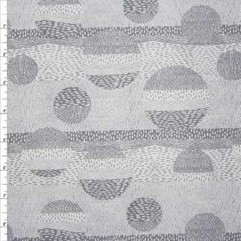Via Grey Geometric Quilter's Cotton Print from Boundless Fabrics Fabric By The Yard
