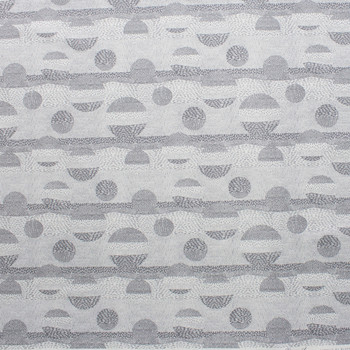 Via Grey Geometric Quilter's Cotton Print from Boundless Fabrics Fabric By The Yard - Wide shot
