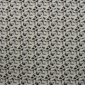 Via Geometric Brushstroke Ivory and Grey Quilter's Cotton Print from Boundless Fabrics Fabric By The Yard - Wide shot