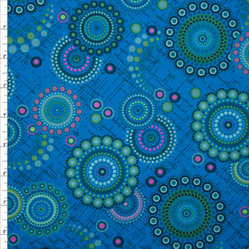 Rhapsody Dots Turquoise Quilter's Cotton Print from Boundless Fabrics Fabric By The Yard