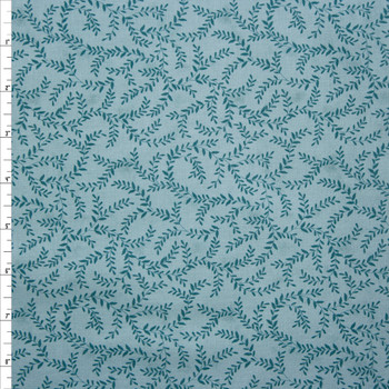 Emerald and Sage Olive Branch Quilter's Cotton Print from Boundless Fabrics Fabric By The Yard