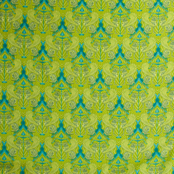 Mythic Lime Quilter's Cotton Print from Boundless Fabrics Fabric By The Yard - Wide shot