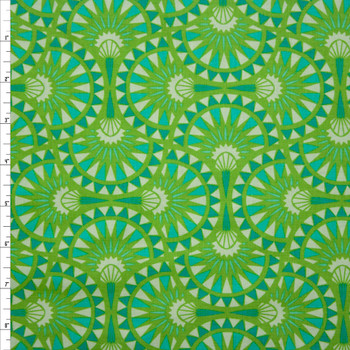 Mythic Fans Lime Quilter's Cotton Print from Boundless Fabrics Fabric By The Yard