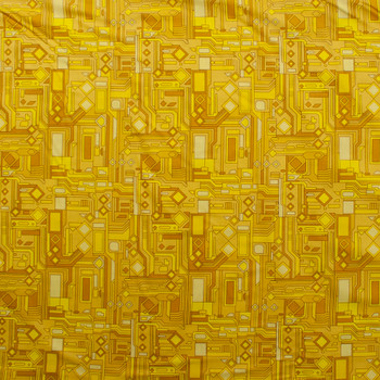 Fractals Yellow Quilter's Cotton Print from Boundless Fabrics Fabric By The Yard - Wide shot