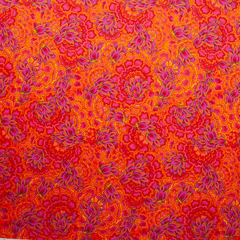 Rhapsody Large Floral Red and Pink Quilter's Cotton Print from Boundless Fabrics Fabric By The Yard - Wide shot