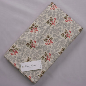 Boundless Orchard Blossom Leaves Cream (6y Bargain Cut) Fabric By The Yard