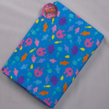 Boundless Trolls Sparkle Blue (4y Bargain Cut) Fabric By The Yard