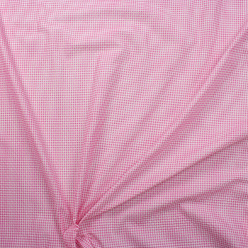 """Hot Pink and White 1/8"""" Gingham Seersucker Fabric By The Yard - Wide shot"""