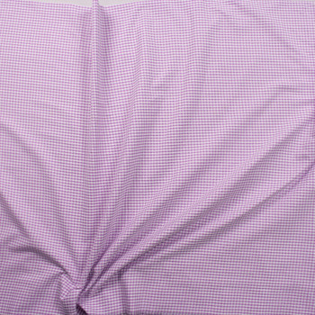 """Lavender and White 1/8"""" Gingham Seersucker Fabric By The Yard - Wide shot"""