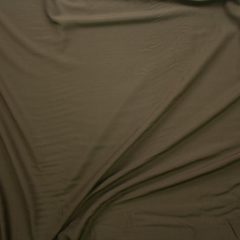 Olive Green Rayon Challis Fabric By The Yard - Wide shot