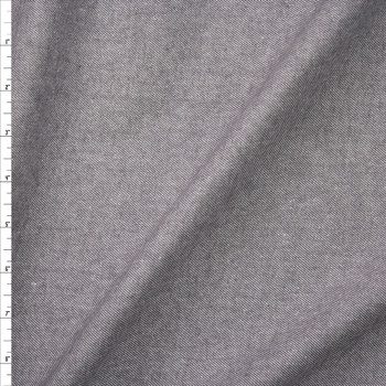 Light Grey Twill Weave Midweight Flannel Fabric By The Yard