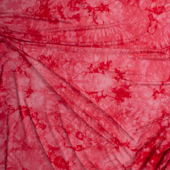 Hot Pink Tie Dye Jersey Knit Fabric By The Yard - Wide shot