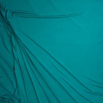 Jade Double Brushed Poly/Spandex Knit Fabric By The Yard - Wide shot