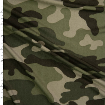 Old Forest Camouflage Double Brushed Poly/Spandex Knit Fabric By The Yard