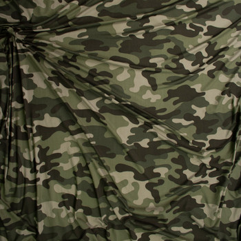Old Forest Camouflage Double Brushed Poly/Spandex Knit Fabric By The Yard - Wide shot