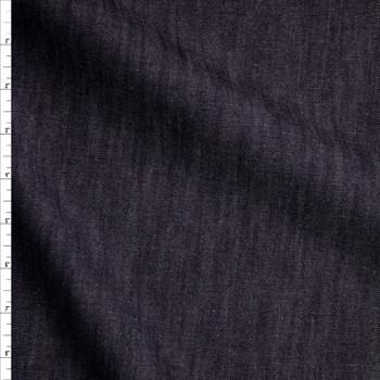 Indigo Light Midweight Designer Denim Fabric By The Yard