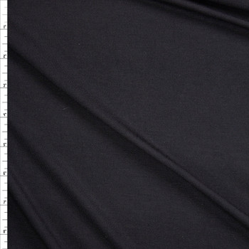 Black Lightweight Bamboo French Terry Fabric By The Yard