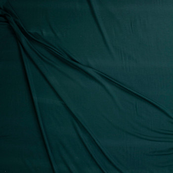 Emerald Green Lightweight Bamboo French Terry Fabric By The Yard - Wide shot