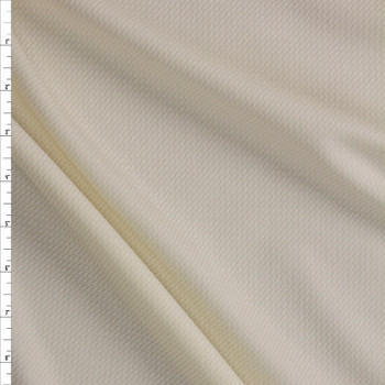 Ivory with Gold Sparkles Bullet Liverpool Knit Fabric By The Yard