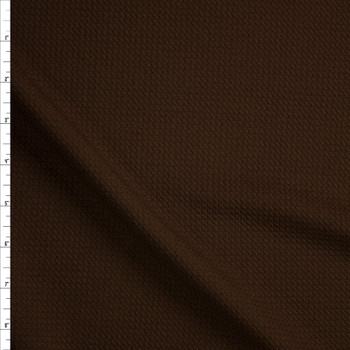 Solid Brown Bullet Liverpool Knit Fabric By The Yard