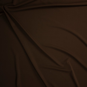 Solid Brown Bullet Liverpool Knit Fabric By The Yard - Wide shot