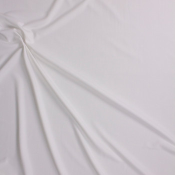 Ivory Stretch Crepe Knit Fabric By The Yard - Wide shot