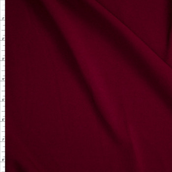 Wine Stretch Crepe Knit Fabric By The Yard