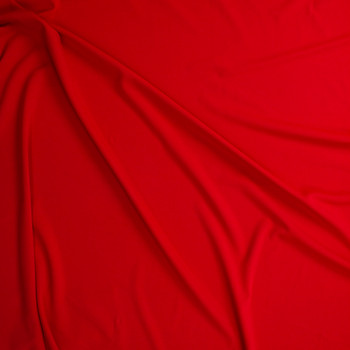 Red Stretch Crepe Knit Fabric By The Yard - Wide shot
